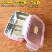 Reusable Food Container/ Food Storage Boxes, 304 Stainless Steel Boxes , Bento Boxes Preservation Box , -1100Ml Pink