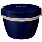 Reusable Food Container/ Food Storage Boxes, Stainless Steel Vacuum Bento Boxes , Double Adult Students Bento Boxes , Microwavable ,800Ml , Navy Blue