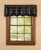 Park Designs Black Coffee Lined Layered Valance, 180cm x 41cm