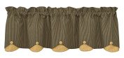 Park Designs Country Star Lined Scalloped Valance, 150cm x 38cm