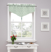 Traditions by Waverly Duncan Damask Window Valance, Spa