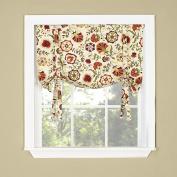 Twill & Birch DAPHNE Twill & Birch Tie Up Drape Shade Valance, 80cm X 70cm , Crimson