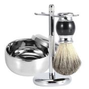 Men's Shaving Kit,3 Pcs Badger Hair Shaving Brush Gift Set