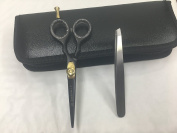 Hair Scissors, Hairdressing Scissors (4.5inch /11.45cm) with a presentation case & Free Tweezer