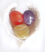 Reiki Healing Energy Charged Krystal Gifts UK Reiki Energy Charged Depression Lifting Crystal Gift Set In Angel Wings Dish