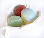 Reiki Healing Energy Charged Krystal Gifts UK Reiki Energy Charged Calming & Soothing Crystal Gift Set In Angel Wings Dish
