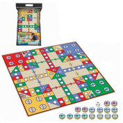 Children Board Games Toys Develop Brains, Single-sided 80x80 Bagged Fly Checkers Blanket