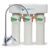 Aquasana AQ-5300+.56 3-Stage Max Flow Under Sink Water Filter with Chrome Faucet