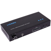 Ligawo 6518730 Audio Embedder with Microphone Support and Volume Control (1080p, HDMI, 3D) Including USB Power Cable (2m) Black