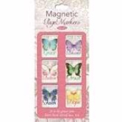 Christian Art Gifts 369801 Bookmark-Pagemarker-Magnetic-Butterfly Blessings-Small-Set of 6