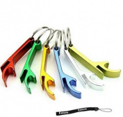 Lsv-8 5pcs Pocket Key Chain Beer Bottle Opener Claw Bar Small Beverage Keychain Ring