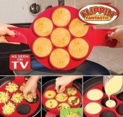 Flippin' Fantastic AS SEEN ON TV NEW! Nonstick Silicone Egg Ring Pancake Mould