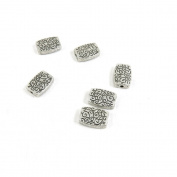 Price per Lot 40 PCS Jewellery Making Charms Antique Silver Tone Colour Jewellery Charme Findingss Bulk Wholesale Suppliers Arts Crafts T7PL8 Pattern Block Loose Beads