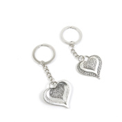 5 Pieces Keyring Key Ring F7ZE1 Heart Drop Keychain Automotive Car Door Key Tags Findings Charms Chains