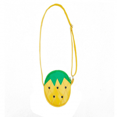 Millya Childrens Kids Fruit Shaped PU Crossbody Bag Coins Purse,Pineapple Shape