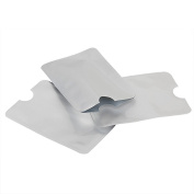 TRIXES Pack of 10 Silver Anti Scam RFID Wallet Pouches for Cards