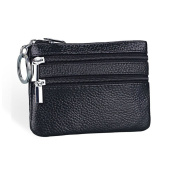 Adantico Unisex Leather Small Wallet Card Holder with Key Holder