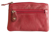 Saddler Genuine Leather Small Coin Purse With Key Ring # 2058