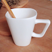 Square cup ceramic white cup coffee cup milk cup, 7.5 * 8.5cm