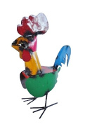 Rustic Arrow Tonito Rooster for Decor, 10 by 17cm by 36cm , Multicolor