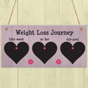 Red Ocean Weight Loss Tracker Chalkboard Hanging Sign Weight Watchers Progress Plaque