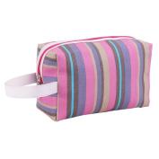 Brendacosmetic Waterproof Rainbow Handle Bag Cosmeic Bag Wash Bag ,Potable Wash Bag Toiletry Bag Makeup Bag Organiser for Ladies