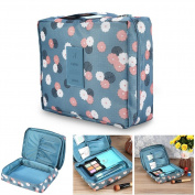 Cosmetic Storage Pouch, Printed Multifunction Portable Waterproof Travel Kit Toiletry Bag Bathroom Organiser
