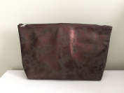 Nordstrom Faux Sude Iridescent Bronze Cosmetic Bag