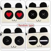 Garrelett Cartoon Panda Top Zipper Cotton/Plush Wallet Handbag for Womens Girls, Mini Portable Cosmetic Makeup Case Bag Card Holder Pencil Pouch for Carrying Coins Cash Keys