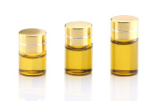 15PCS 1ML/2ML/3ML Refillable Glass Essential Oil Bottles Cosmetic Sample Bottles Vials with Gold Cap