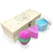 Twisted Envy Personalised Ornamental Swirls And Hearts Luxury Wooden Spa Kit Box Collection 4