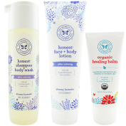 The Honest Company Dreamy Lavender - Shampoo + Body Wash (300ml) & Face + Body Lotion (250ml) + Healing Balm
