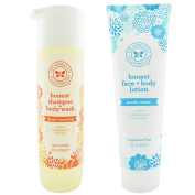 The Honest Company Apricot Kiss - Shampoo + Body Wash (300ml) & Unscented Face + Body Lotion