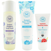 The Honest Company Dreamy Lavender - Shampoo + Body Wash (300ml) & Unscented Face + Body Lotion (250ml) + Healing Balm