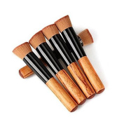 Brendacosmetic 5Pcs Pro Foundation Face Powder Brush Blush Makeup Cosmetic Tool,Portable Oblique Head Cosmetic Brush with Creanm BB For Face Painting