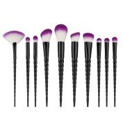 Saking 10 Pieces Unicorn Makeup Brushes Set Professional Foundation Eyebrow Eyeliner Blush Cosmetics Brush Kit