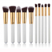 Hatop 10pcs Makeup Brushes Set Powder Foundation Eyeshadow Tool