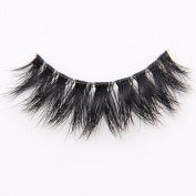 Arimika 3D Mink Fake Eyelashes -Clear Invisible Flexible Band,Reusable with Proper Care,Long Natural Looking