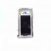 False Individual Eyelashes Extension Ellipse Flat Eyelash Extension Natural Black colour 0.15mm thickness C curl 14MM 1Tray