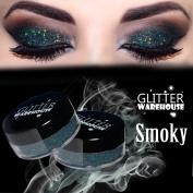 Smoky Grey - GlitterWarehouse Holographic Glitter for Eyeshadow / Eye Shadow Shimmer Makeup Dark Grey