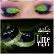 Lime Light - GlitterWarehouse Holographic Glitter for Eyeshadow / Eye Shadow Shimmer Makeup Green