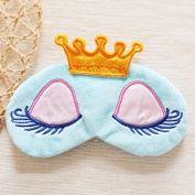 Adecco LLC Cute Sleeping Beauty Cartoon Eye Mask & Blindfold for Kid's Sweet Dreams Pink