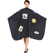 SMARTHAIR Professional Salon Cape Polyester Haircut Apron Hair Cut Cape,140cm x 160cm ,Black,C026016B-B