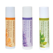 Natural Inspirations Ultra Hydrating SPF 30 Lip Butter 3 Piece Set - Citrus, Pomegranate and Mint