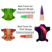 NICOLE DIARY 3roll Adhesive Nail Form for Acrylic/UV Gel Nail Tips Extension Manicure Nail Art Tool