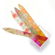 MIRADA (TM) 14cm , 4 Colours Crystal Glass Nail Files Set for Quality Manicure Nail Art