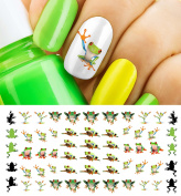 Tree Frogs Water Slide Nail Art Decals - Salon Quality!