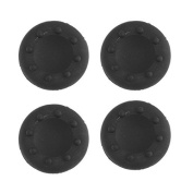 TOOGOO(R)4 Pieces Thumb Grips Silicone Cover Case Dot Pattern for Sony Playstation PS2 PS3 PS4 Xbox One Xbox 360 Controller black