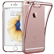 IPHONE 7 Rose Gold Gel Case [Fusion] Rose Gold Back TPU Gel Case [Drop Protection/Shock Absorption Technology] For Apple iPhone 7