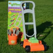 KIDS PLASTIC TOY GARDENING LAWNMOWER PLAY SET RAKE TROWEL FORK TOOLS OUTDOOR FUN